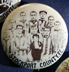 Stockport County FC 1907/8 football badge #SCFC #Stockport #Manchester #Tameside #StockportCounty