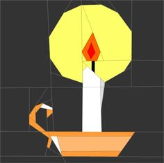 "Candle  6"" (16cm) Paper Pieced pattern quiltartdesigns.blogspot.com"