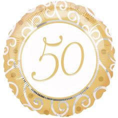 Anniversary Mylar Balloons feature an elegant gold and silver flourish pattern. Our Anniversary Balloon measures 18 inches and is printed on both sides. 50th Wedding Anniversary Decorations, Anniversary Banner, Anniversary Party Decorations, Gold Party Decorations, Golden Anniversary, Wedding Anniversary Gifts, Anniversary Parties, Anniversary Ideas, Mylar Balloons