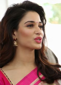Milky White Beauty Tamanna Bhatia Looks Super Sexy In Pink Saree At Trisha - A Trendy Wish Designer Store Launch In Hyderabad more @ http://www.luvcelebs.com