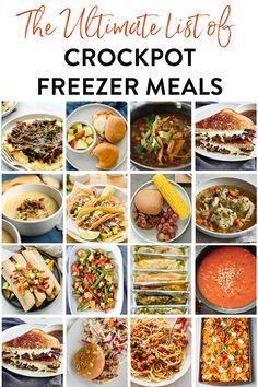 Freezer Soups, Slow Cooker Freezer Meals, Healthy Freezer Meals, Crock Pot Cooking, Slow Cooker Recipes, Healthy Dinner Recipes, Crockpot Recipes, Freezer Cooking, Homemade Soup