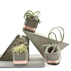Concrete bowls and planter by PASiNGA