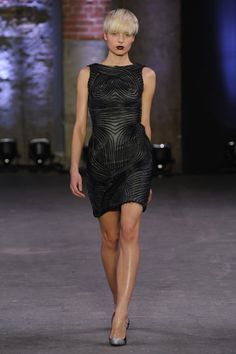 Christian Siriano Fall 2012-- You know how I feel about black. This is stunning and so edgy! I'm so into the rock look right now.