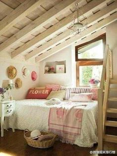 Anything with rustic beams and slanted ceilings!