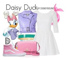 Daisy Duck by leslieakay on Polyvore featuring polyvore, fashion, style, Lilly Pulitzer, Jeremy Scott, Vans, Kate Spade, BillyTheTree, Allurez, clothing, disney, disneybound and disneycharacter