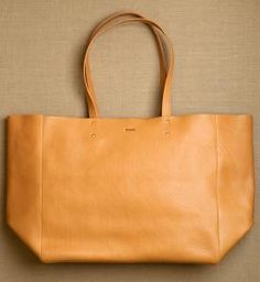 purl soho | products | item | leather tote (baggu)