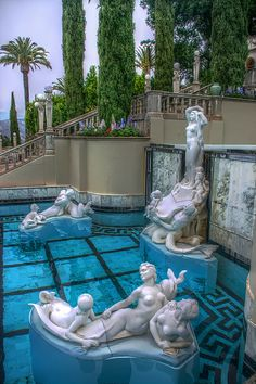 Neptune Pool Statues, Hearst Castle, San Simeon, California | cynthia reccord