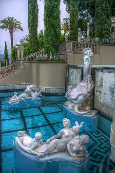 Neptune Pool Statues, Hearst Castle, San Simeon, California