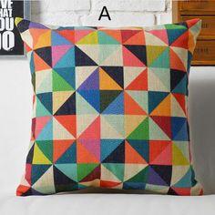 Pop art colorful geometric pillow for home decoration linen sofa Cushions