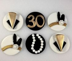 Gatsby Inspired Topper Fondant Toppers by KedulceSugarDesigns Roaring 20s Party, Gatsby Themed Party, 1920s Party, 30th Party, 30th Birthday Parties, Gatsby Wedding, Roaring Twenties, Flapper Party, Wedding Table