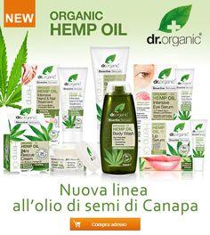 Dr.Organic: Nuova linea all' Olio di Canapa