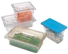 """Next Day Gourmet Clear Top Notch Food Pan Half Size - 6"""" deep Clear by Next Day Gourmet. $12.69. Blue snap-on Smart Lids(TM) lock in freshness. NSF. 10-1/4"""" wide by 12-3/4"""" long. Clear covers available in solid or notched styles. Features reinforced corners for long life, textured bottoms and lids for scratch resistance. Clear polycarbonate pans withstand temperatures of -40 degrees to 212 anddeg;F. Unique food pans are notched for easy removal from steam tables and food ..."""
