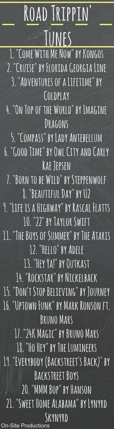 Looking for the perfect playlist for a road trip? When I'm on the road … – Wedding Music Playlists – Road Trip Music Lyrics, Music Quotes, Music Songs, Road Trip Playlist, Song Playlist, Playlist Ideas, Music Mood, Mood Songs, Playlists