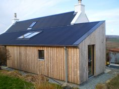 Small Projects - Rural Design Architects - Isle of Skye and the Highlands and Islands of Scotland Cedar Cladding, Exterior Cladding, Cottage Style House Plans, Cottage Ideas, Scottish Cottages, Cottage Extension, Farmhouse Architecture, Outside Room, Long House