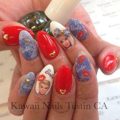 Barbie Denim Nails#kawaii #kawaiinails #nails #nailart #nailist #gelnails #gel #calgel #presto #vetro #ibd #naillove #stiletto #stilettonails #tustin #可愛い#ネイル#ネイルデザイン#ネイルアート#ジェル