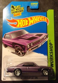 2014 Hot Wheels CUSTOM Super Treasure Hunt 67 Chevy Chevelle SS w Real Riders #HotWheels #Chevrolet
