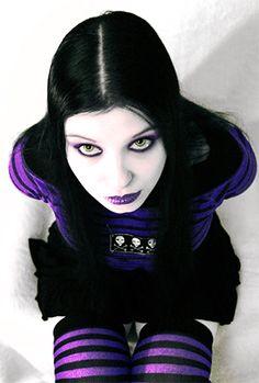 cute goth girl in a cute pose