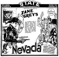 1927 - NEVADA - John Waters - (READING EAGLE, Sunday, October 9, 1927, Reading, Pensylvania)