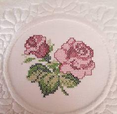Bed Spreads, Cross Stitch, Rose, Stitch Patterns, Cross Stitch Patterns, Embroidery Stitches, Bath Linens, Cross Stitch Embroidery, Flower
