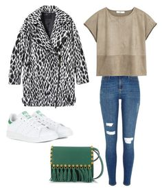"""""""Untitled #61"""" by tyra-breann on Polyvore featuring Banana Republic, adidas, River Island, MANGO and Valentino"""