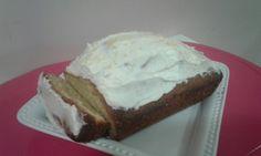 Maderia cake with lemon icing