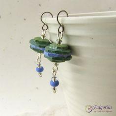 Rustic stack bead earrings by Cate van Alphen