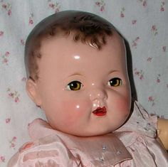 """Mold 1 Effanbee 20"""" DY-DEE Baby -- Gorgeous Old Dolls, Antique Dolls, Vintage Dolls, Dolly World, Human Doll, Effanbee Dolls, Toddler Dolls, Baby Furniture, Doll Toys"""