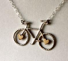 Prêt pour navireLe vélo Petit collier avec par RachelPfefferDesigns, $88.00