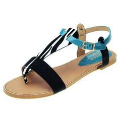 Sandales - Noir  amp  Zébré  amp  Bleu Rdv sur Jumia pour trouvez ces  sandales 9df5cce3bd65