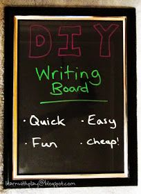 DIY Writing Board