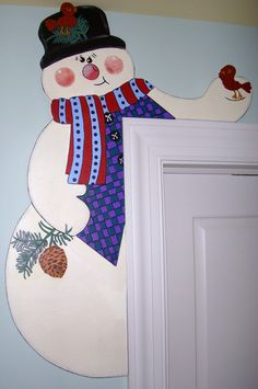 Best 11 This is a new, uncut pattern for a 30 Snowman Door Hugger called Sidney. He is a door hugger that will fit around any door or window with molding, as long as he is created from plywood. List of supplies is listed in the photos. THIS ITEM IS FOR Grinch Christmas Decorations, Christmas Wood Crafts, Snowman Crafts, Christmas Signs, Holiday Crafts, Christmas Diy, Christmas Ornaments, Holiday Decor, Primitive Wood Crafts