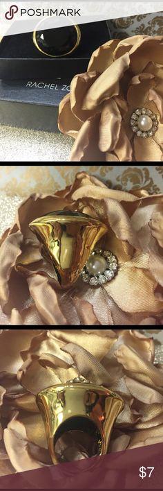 RACHEL ZOE BLACK & GOLD RING Worn lovingly a few times. Rachel Zoe Jewelry Rings