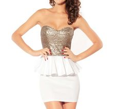 White Embellish Backless Dress