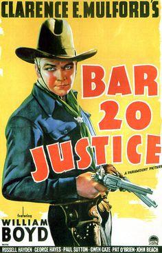 Vintage Movie Poster Fridge Magnet William Boyd 1938 by Vividiom, $3.00
