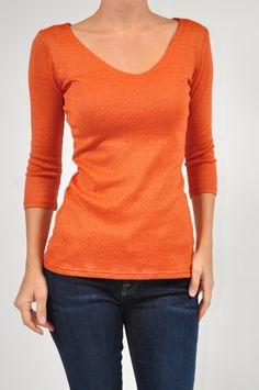 Perfect for Fall Transitional Weather - Michael Stars Marmalade Double V!!! $56 http://www.shopmapel.com/products.html?productId=27712