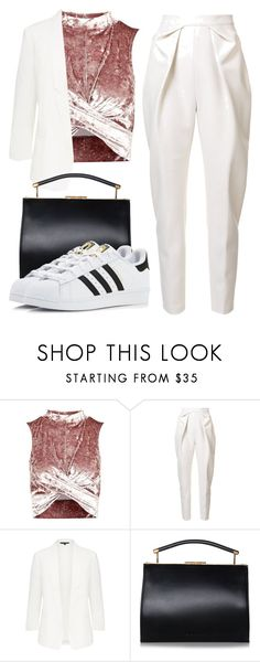 """""""The Key"""" by nexusbyels ❤ liked on Polyvore featuring Topshop, Delpozo and adidas"""