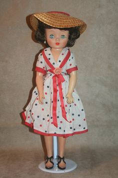 Belle Margie in her original dress. These dolls were produced in 1956-57. This Miss Margie is for my Mom.
