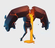 ArtStation - cartoon golem, Andrew Lehan