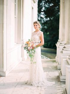 Lace wedding dress by Sally Lacock   Photography by http://www.zosiazacharia.com/