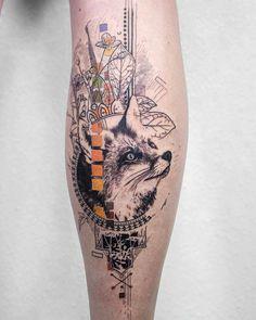 Fox tattoo by KoitTattoo