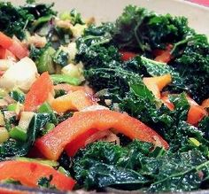 """Spicy Garlic Kale with Red Peppers: """"I am fairly new to kale, and this was truly an amazing combination. The kale was so yummy, I will be making more tonight."""" -Koiotic"""
