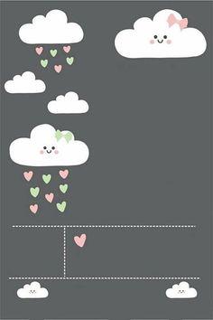 12 Convites de Chuva de Amor para Imprimir – Modelos de Convite Baby Shower Snacks, Baby Shower Party Favors, Baby Shower Signs, Baby Shower Invites For Girl, Girl Shower, Party Decoration, Baby Shower Decorations, Rain Baby Showers, Kids Background