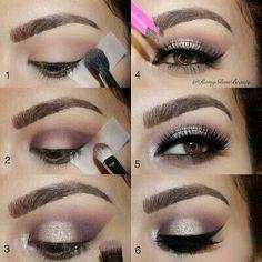 Elegant eye make up Eye Makeup Tips, Makeup Goals, Love Makeup, Makeup Inspo, Eyeshadow Makeup, Makeup Inspiration, Hair Makeup, Makeup Style, Makeup Ideas