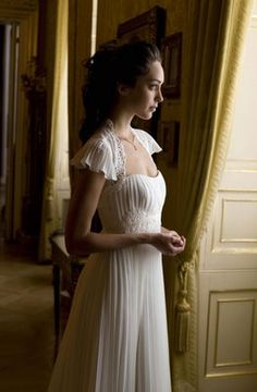 A beautiful Jane Austen inspired gown. Simply lovely!