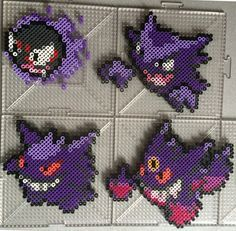 #092-#094 Ghastly Family - Pokemon perler beads by TehMorrison