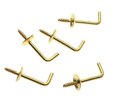 "Stanley Hardware 75-8500 Stanley 758500 - 1/2"" Bright Brass(3) Shoulder Hook"