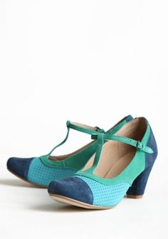 adorable mary jane's in turquoise and navy