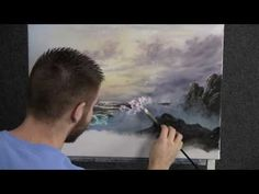 Paint with Kevin Hill - Morning Wave (+playlist) Oil Painting Lessons, Acrylic Painting Techniques, Painting Videos, Art Techniques, Watercolor Paintings Abstract, Watercolor Artists, Landscape Paintings, Painting Art, Abstract Oil