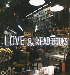 cafewithstyle: Who doesn't love book cafe? - Tea, Coffee, and Books Book Cafe, Book Store Cafe, I Love Books, Books To Read, Big Books, Book Aesthetic, Book Nooks, Love Reading, Book Nerd