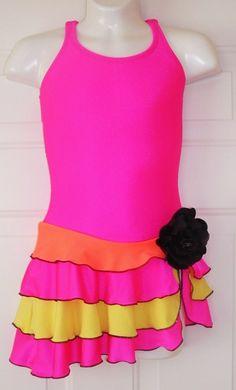 neon bright, funky dress